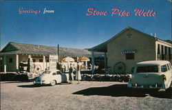 Stove Pipe Wells Postcard