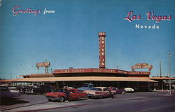 Round-Up Drive-In Restaurant Postcard