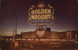 Nigh View of the $1,000,000 Golden Nugget Gambling Hall Postcard