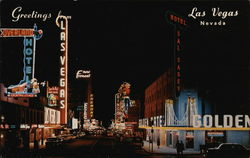 Fremont Street at Night Postcard