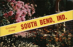 Greetings From South Bend, Ind. Postcard