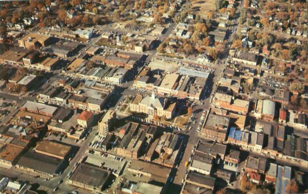 Aerial View Of Uptown Business District Historical Independence Missouri