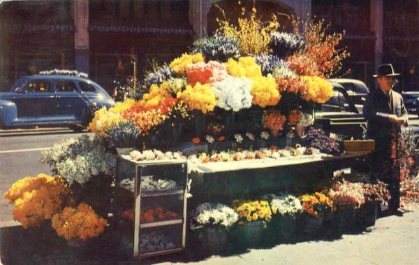 San Francisco Flower Stand California