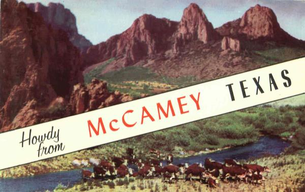 Howdy From McCabe McCamey Texas