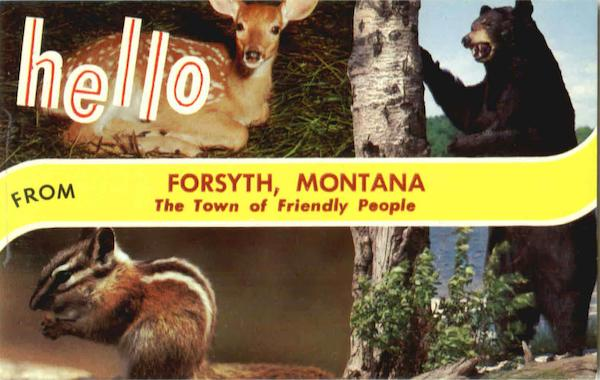 Hello From The Town Of Friendly People Forsyth Montana