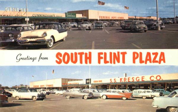 Greetings From South Flint Plaza Michigan