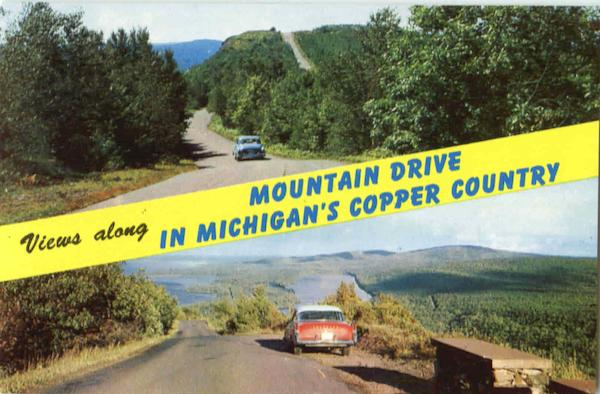 Views Along Mountain Drive In Michigan's Copper Country Scenic