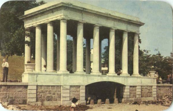 Portico Over Plymouth Rock Massachusetts