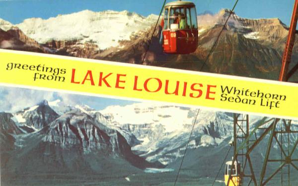 Greetings From Lake Louise Victoria Canada British Columbia