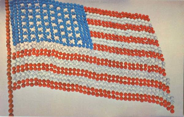 The US Flag made with Marbles Patriotic