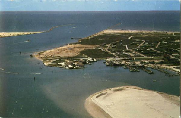 Aerial View Of Port Aransas Texas