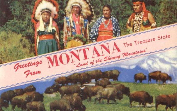 Greetings From Montana Scenic Native Americana