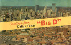 Greetings From Big D Postcard
