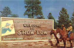 Welcome To Show Low Postcard