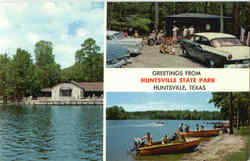 Greetings From Huntsville State Park Postcard