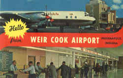 Hello From Weir Cook Airport Postcard