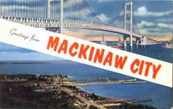 Greetings From Mackinaw City Postcard