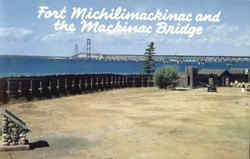 Fort Michilimackinac And The Mackinac Bridge