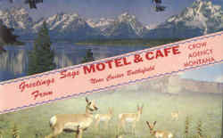 Greetings From Sage Motel & Café Postcard