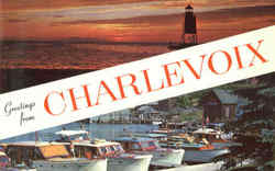 Greetings From Charlevoix Postcard