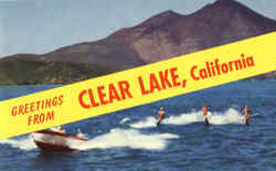 Greetings from Clear Lake Postcard