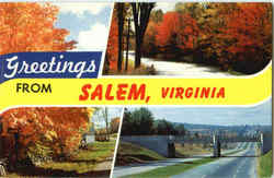 Greetings From Salem Postcard