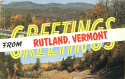 Greetings From Rutland Postcard