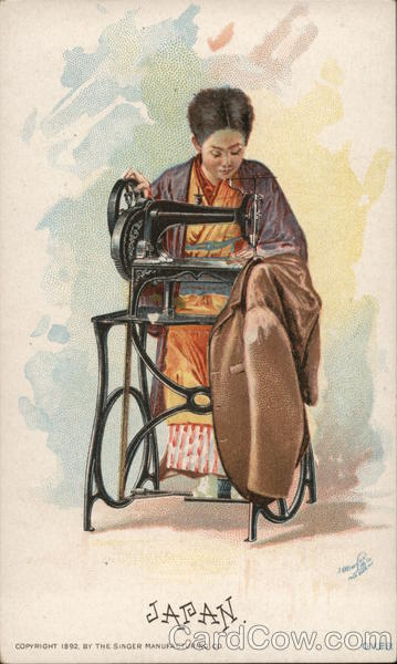 Japan. - Singer Sewing Machine Advertising