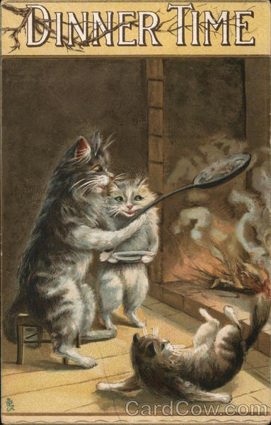 Dinner Time Maurice Boulanger Cats