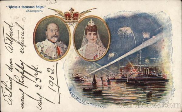 Above a thousands Ships. Shakespeare Edward VII Coronation Souvenir