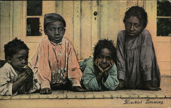 Four Black Children Posing Casually Black Americana