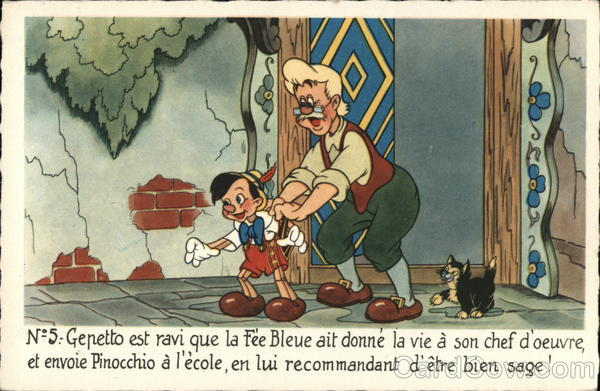 Pinocchio and Gepetto Disney