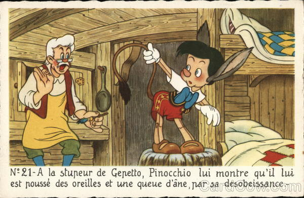 Pinocchio Holding Up His Tail Disney