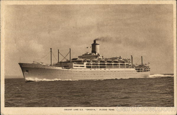 ORIENT LINE S.S. ORSOVA. 29,000 TONS Boats, Ships