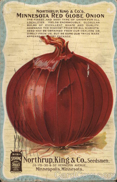 Northrup, King & Co's Minnesota Red Globe Onion Advertising