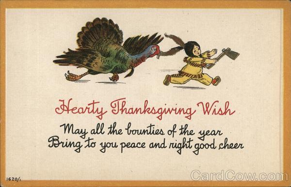 Hearty Thanksgiving Wish Indians