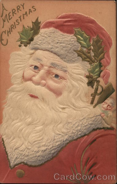 A Merry Christmas Santa Claus Airbrushed