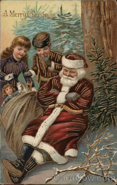 A Merry Christmas - Children Robbing Sleeping Santa