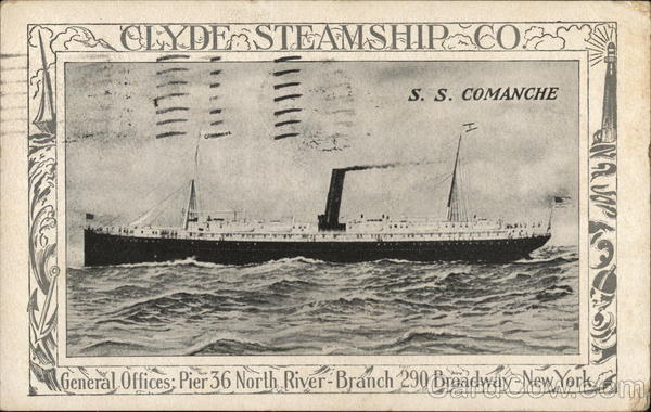 Clyde Steamship Co. - S.S. Comanche Steamers