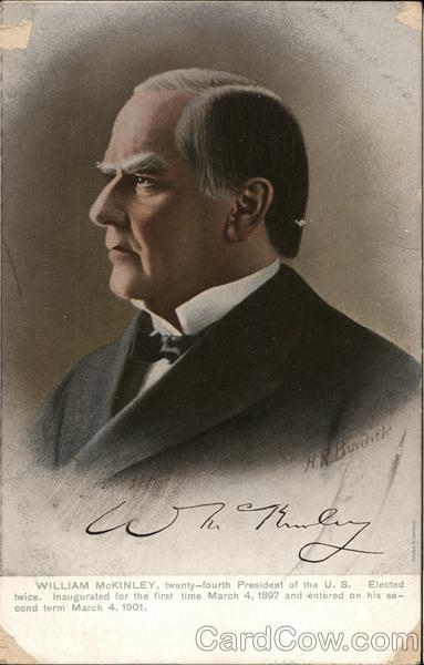 Portrait of William McKinley Presidents