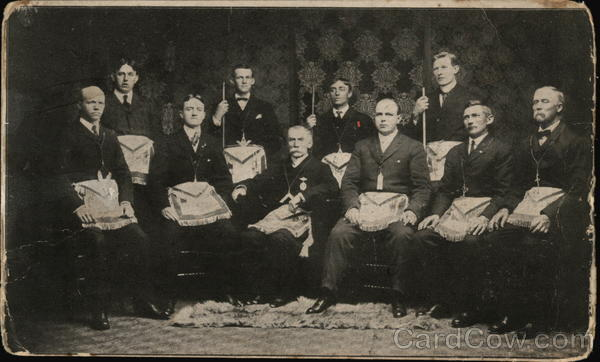 1906 To Master Masons - Group Photo of Men Westport Maryland