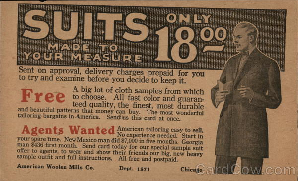Suits Made To Your Measure Advertising