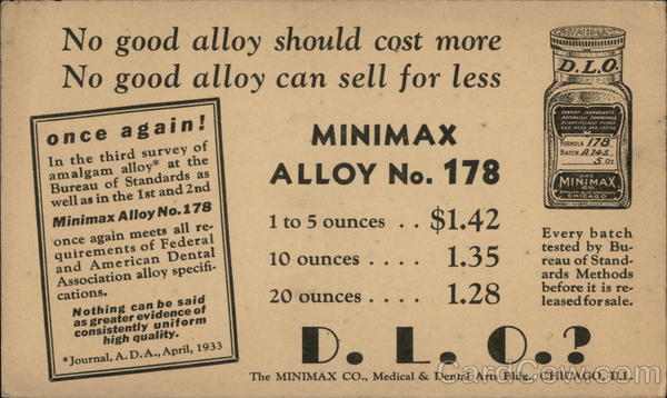 No good alloy should cost more No good alloy can sell for less