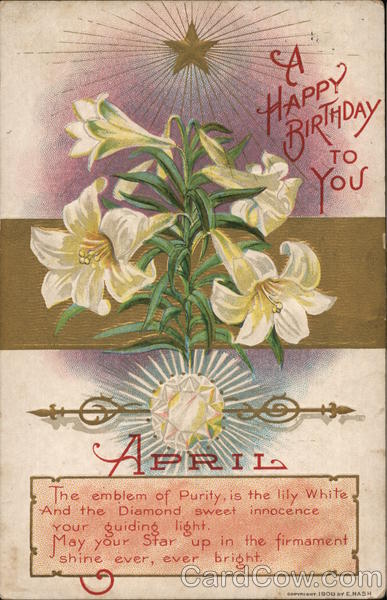 A Happy Birthday to You - Month of April