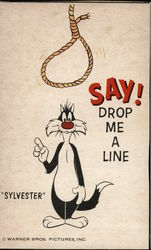 """Sylvester"" the Cat with Rope Overhead"