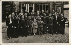 Group Photo of Little People Paris 1937 Exposition
