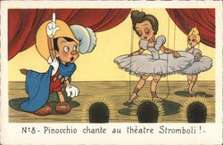 Costumed Pinocchio on Stage with Two Ballerina Marionettes