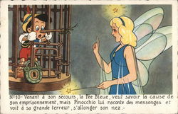 Fairy Talking To Pinocchio, Who is Locked in Cage