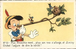 Pinocchio with Tree Branch on Nose with Bird's Nest