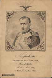 Bust of Napoleon in Circular Frame